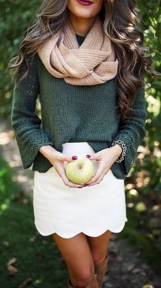 #fall #outfits green apple