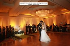 LIGHTING TIP~ LED Lighting is absolutely breathtaking when shown on draping! Lighting by Soundwave Entertainment, www.djsoundwave.net. Photo by Castaldo Studio