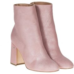 Ankle Boots (23.640 RUB) ❤ liked on Polyvore featuring shoes, boots, ankle booties, pink, heels, botas, pink booties, mid heel boots, heeled boots and ankle boots