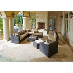 (CLICK IMAGE TWICE FOR UPDATED PRICING AND INFO) #home #patio #sofa #outdoor #outdoorsofa #patiosofa #patiosofaset #loungesets #outdoorpatiosofasets  see more patio sofa at http://zpatiofurniture.com/category/patio-furniture-categories/patio-sofa/ - RST Outdoor OP-PERES10.2-WG-K Resort Collection Casita Deluxe 10-Piece Rattan Patio Furniture Set, Weathered Gray « zPatioFurniture.com