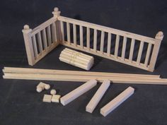 "Railing Kit #2 Stairs dollhouse balcony guard 12"" 1/12 scale miniature MW12082 #ManchesterWoodWorks"