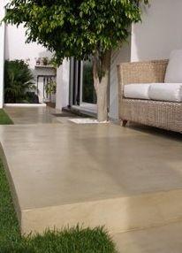 piso exterior microcemento