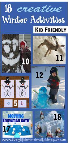 18 CREATIVE Winter Activities!