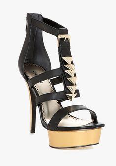 bebe | Janelle Chevron Leather Platform Sandal