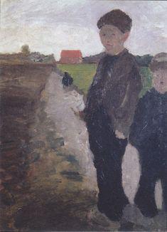 The Athenaeum - Two Boys on a Canal (1900) (Paula Modersohn-Becker - )