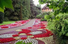 Mainau - Flowering island in Lake Constance, bordered by Switzerland, Germany, and Austria
