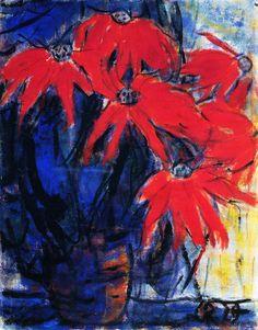"""Christian Rohlfs (1849-1938) was een Duitse schilder van het expressionisme  werd in 1911 lid van de """"Neue Secession"""". Mede doordat Rohlfs ouder was dan zijn tijdgenoten, was zijn werk lyrischer van aard. Hoewel hij nooit overging tot de gepassioneerde stijl van Nolde, vervormde hij zijn figuren soms op dezelfde, bijna groteske wijze."""
