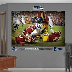 Marshawn Lynch Touchdown Mural, Seattle Seahawks #FatheadMoments