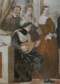 Giovanni Antonio Fasolo (1530-1572) - The Dance, ca 1570, Villa Caldogno (detail)
