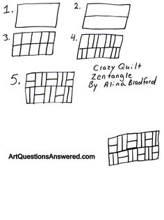 How to Draw a Crazy Quilt Zentangle - Art Questions Answered