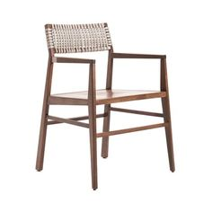 Chair with armrests with ash structure. Seat available in wood, fabric, leather…