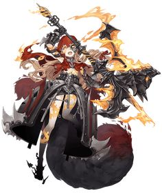 View an image titled 'Red Riding Hood, Half-Nightmare Job Art' in our SINoALICE art gallery featuring official character designs, concept art, and promo pictures. Female Character Design, Character Design Inspiration, Character Concept, Character Art, Concept Art, Manga Characters, Fantasy Characters, Anime Fantasy, Fantasy Art