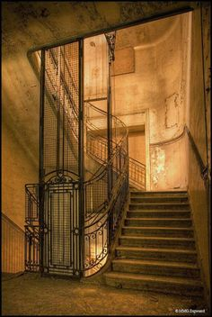 Elevator well - abandoned Bureau de CW