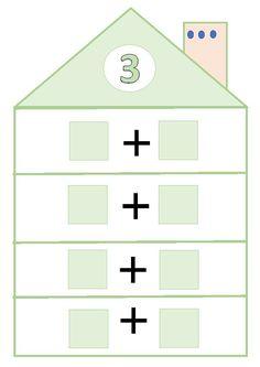 Después de haber practicado mucho en clase, he decidido incluir en el Rincón de las mates, las casitas de los números para que puedan de... Numbers Kindergarten, Numbers Preschool, Math Numbers, Preschool Math, Teaching Math, Math Activities, Mental Maths Worksheets, School Frame, Montessori Math