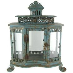Antique Blue Metal Lantern | Shop Hobby Lobby