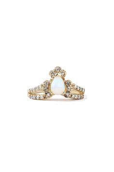 MANIAMANIA Ritual Solitaire Opal Ring, $2,900; catbirdnyc.com   - ELLE.com