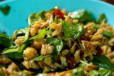 The Sweets Life: Chickpea Pasta with Spinach, Sun Dried Tomatoes, and Walnuts