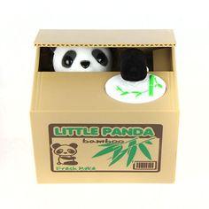 11.5CM Itazura Coin Bank Panda Saving Pot Coin Bank for Coin Collection Kids Toy