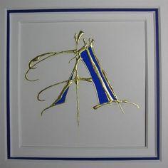 Initial, framed letter
