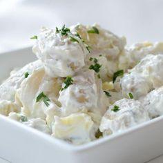 RECEPT: Krämig hemmagjord potatissallad med purjo, gräslök och rödlök (vegetariskt)   Emma-Lous blogg