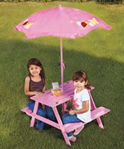 1000 images about picnic tables for kids on pinterest - Children s picnic table with umbrella ...