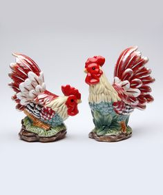 Not really my thing but so cute. // Blazing Rooster Salt & Pepper Shakers #zulilyfinds