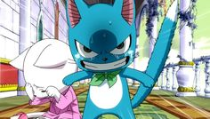 Happy and Carla - Fairy Tail I so totally ship them Carla Fairy Tail, Fairy Tail Cat, Image Fairy Tail, Fairy Tail Happy, Sad Fairy, Love Fairy, Fairy Tail Ships, Manga Anime, Anime Guys