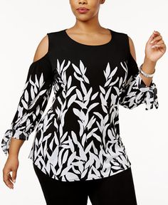 66.99$  Watch here - http://viyxd.justgood.pw/vig/item.php?t=uuslhw254538 - Plus Size Printed Off-The-Shoulder Top, Only at Macy's 66.99$