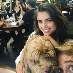 Taylor Hill with her dog Tate, and Russell James | October 15, 2016