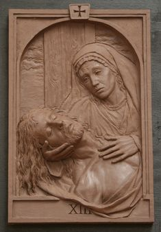 Fourteen Stations of the Cross Sculpture,Catholic Art,Koh-Varilla Guild Chicago Catholic Art, Religious Art, Wood Carving Art, Wood Art, Wood Sculpture, Sculptures, King Picture, Jesus E Maria, Wooden Statues