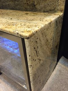 Chiseled edge granite countertops perfect kitchen island granite edges with chiseled edge Granite Countertop Edges, Kitchen Cabinets And Countertops, Oak Cabinets, Kitchen Backsplash, Kitchen Island, Granite Edge Profiles, Diy Bathroom Vanity, Modern Lighting Design, Old Dressers