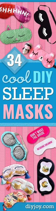 DIY Sleep Masks - Cu