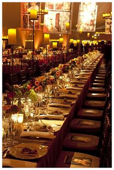 Gorgeous table settings by David Stark banquet for the Metropolitan Opera inspired by the opening production: Anna Bolena.