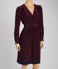 Graduation dress?  Another great find on #zulily! Red & Navy Silk Dress by Tegan #zulilyfinds