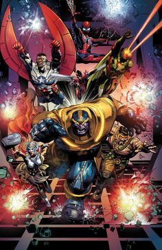 Thanos Vol. The God Quarry - Marvel Comics Arte Dc Comics, Bd Comics, Marvel Comics Art, Marvel Comic Books, Comic Book Heroes, Marvel Movies, Anime Comics, Comic Books Art, Comic Art