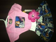 Baby Star Wars themed baby skirt w onsie by SickgirlCreations, $18.00