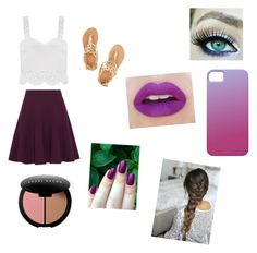 """puple"" by volleyball101-alex ❤ liked on Polyvore featuring Halston Heritage, Ancient Greek Sandals and Bobbi Brown Cosmetics"
