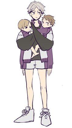 メイ @amy_mybe Haikyuu Kageyama, Haikyuu Funny, Haikyuu Manga, Haikyuu Fanart, Semi Eita, Haikyuu Volleyball, Kurotsuki, Anime Child, Another Anime