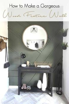 home accents walls Gorgeous Wood Accent Wall! Make your own stunning feature wall with this simple DIY tutorial! LOVE the final results! Cute Dorm Rooms, Cool Rooms, Living Room Designs, Living Spaces, Diy Home Decor, Room Decor, Diy Decoration, Wood Accents, Interior Exterior