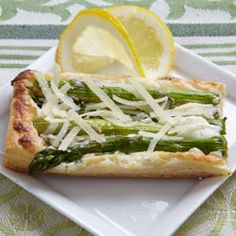 Asparagus and Parmesan Cream Pastry: I had thought this would be hit or miss, and it was both. The asparagus would have been great with the spread as a sauce if it was thinner, but it made the puff pastry soggy and it did not reheat well.