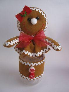 felt gingerbread