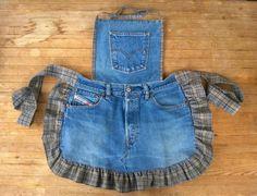 Tuunausta ja tekeleitä: Ohjeet farkkujen totaalikierrätykseen, osa 3 Overall Shorts, Overalls, Pants, Aprons, Women, Ideas, Fashion, Beautiful Cats, Bags