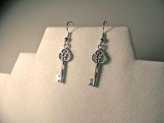Earrings Key charm earrings key earrings by CrystalinasCreations, $7.95