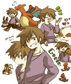 Green Pokemon, Pokemon Ships, Pokemon Stuff, Videogames, Trainers, Blue Green, Fandom, Cartoon, Manga