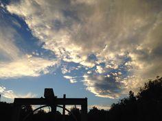 The sky is blue. It's beautiful. Cdmx. Clouds. Df. Nubes.