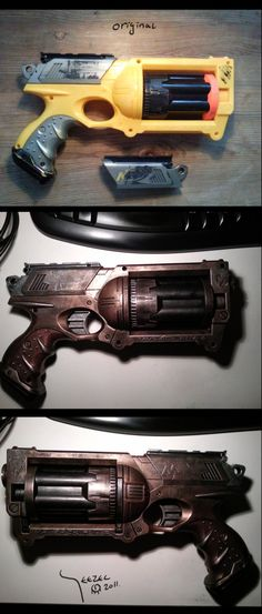 Well i recently had some free time on my hands, so i decided i wanted to repaint and mod a Nerf gun. Man those Mavrick Nerf Guns sure look cool! Dont ya think? Other pic of my steampunk gun - Used ...