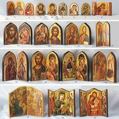 Dyptich icons, Triptych icons. Religious Icons, Religious Art, Triptych Art, Prayer Corner, Catholic Art, Art Icon, Orthodox Icons, Altars, Environmental Art