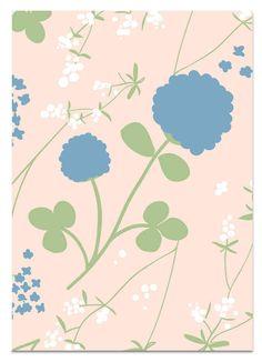 Apila sininen 2-osainen postikortti