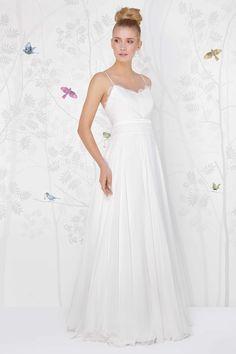 SADONI wedding dress LARUE with French lace and soft silk chiffon