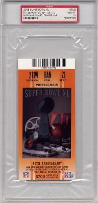 2006 Super Bowl XL Ticket Stub